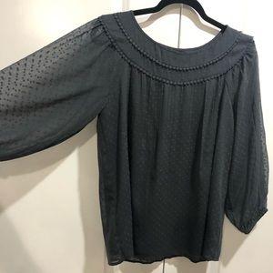 LOFT Grey Blouse